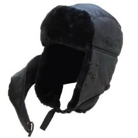 Шапка Alaskan DogSalmon с мех. и маской черная