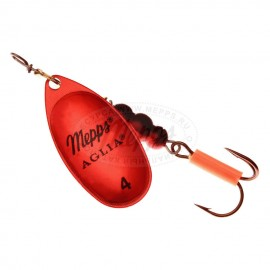 Блесна вращающаяся Mepps Aglia Platinum 4 Red/Silver