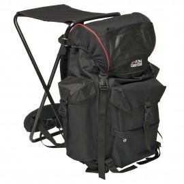 Рюкзак рыболовный со стулом Abu Garcia Deluxe Black/red
