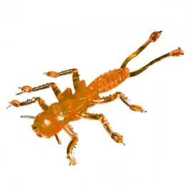 Силиконовая приманка Microkiller веснянка 35мм оранжевый флюо
